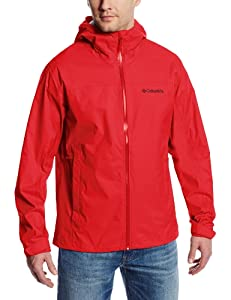 Columbia Sportswear Men's Evapouration Jacket, Bright Red, Small