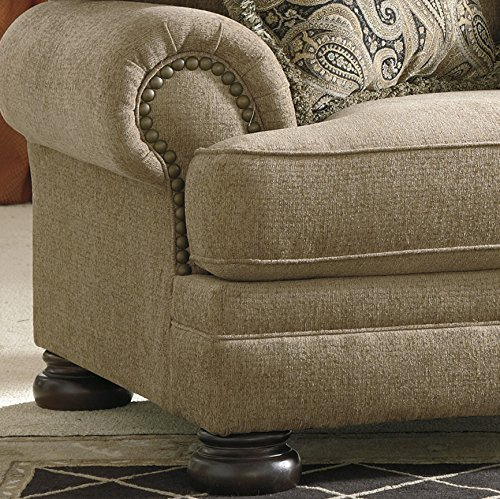 Keereel Traditional Sand Color Fiber Chair and a Half With