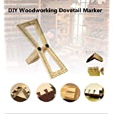 Dovetail Marker, DIY Woodworking Hand Cut Wood Joints Gauge with Scale,Template Marking Gauge Pure Copper Dovetail Jig Guide,Dovetail Template Size 1:5-1:6 and 1:7-1:8