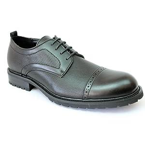 New Men's Cap Toe Dress Shoes Lace up Oxfords Bulk 2 (9 U.S (D) M, DARK BROWN)