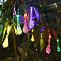 Solar Icicle Globe Outdoor String Lights