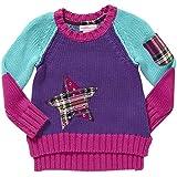 Design History Little Girls' Star Sweater (Toddler/Kid) - Playful Purple