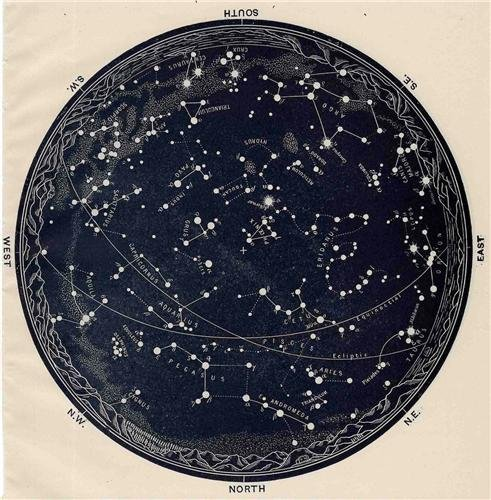 CONSTELLATION-GLOBE-GLOSSY-POSTER-PICTURE-PHOTO-earth-stars-astronomy-cool