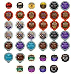 Bold and Dark Coffee Recyclable Single Serve Cups For Keurig K Cup Pod Brewers Variety Pack Sampler, 40 Count made by Perfect Samplers