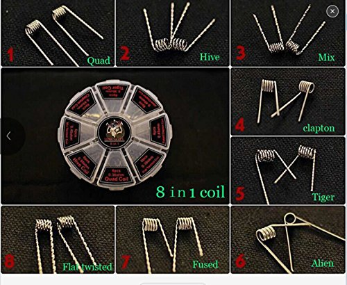 Tool for US 8 IN 1 Prebuilt coils in ferris wheel box 0.36ohm 0.4ohm 0.45ohm 0.5ohm 0.85ohm 48 PCS Pre-built coils (Micro Vape compare prices)