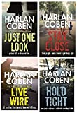 HARLAN COBEN HARLAN COBEN 4 SET COLLECTION SET JUST ONE LOOK STAY CLOSE HOLD TIGHT LIVE WIRE