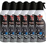 6pk Dust Off Compressed Air Computer TV Gas Cans Duster 10oz Laptop Keyboard CPU