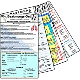 Beatmungs-Karten-Set - Medizinische Taschen-Karte: Beatmungs-Karten-Set (4er-Set) bestehend aus unseren Karten: - Beatmung - Grundlagen, Einstellungen ... Normwerte; Blutgase & Differentialdiagnose;