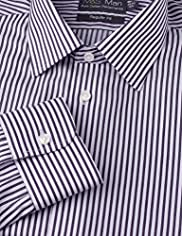 Ultimate Non-Iron Pure Cotton Easycare Striped Shirt