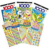 Bumper Sticker Books Insect, Animals, Sea World 1000 stickers per Book for Kids to use in Crafts(Pack of 3)