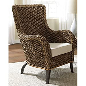 Hospitality Rattan Hospitality Rattan Cozmel Full Frame Wicker Lounge Chair with Cushions - Antique by Hospitality Rattan