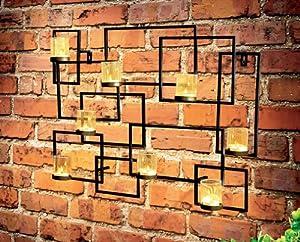 Geometric Tealight Wall Art Sculpture from Gardman