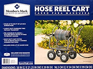 Amazon Com Member S Mark Hose Reel Cart Patio Lawn