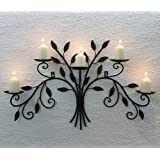 12119 Wall-Mounted Candle Holder 70 cm Wrought Iron