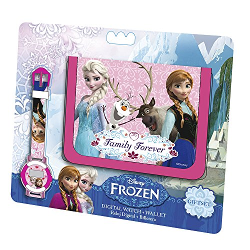 Euroswan - 86824 - Bracelet - Frozen La reine des neiges Set Portefeuille + Montre Digitale