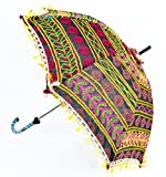 Lalhaveli Hand Embroidery Work Design Cotton Patio Umbrella 24 x 28 Inches