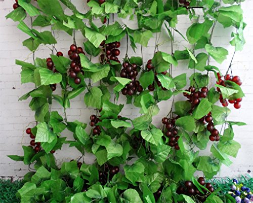 Meiliy 8 ft artificial greenery chain grape ivy leaves - Grey gardens dive per sempre ...