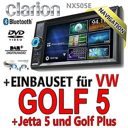 VW golf 5-clarion nX505E 2 dIN navigationsradio intelligent vOICE TM, hDMI, uSB avec kit de montage