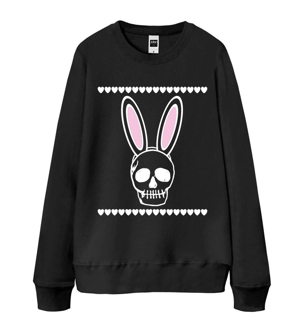 S-XXL Unisex Sweatshirt 13 Colors - Bunny Skull