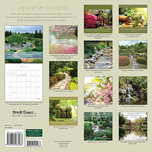 2016 japanese gardens wall calendar home lawn outdoor for Gardening wall planner