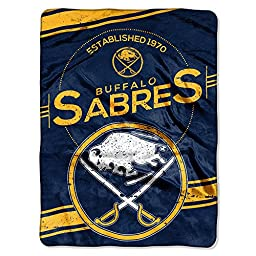 NHL Buffalo Sabres Stamp Plush Raschel Blanket, 60\