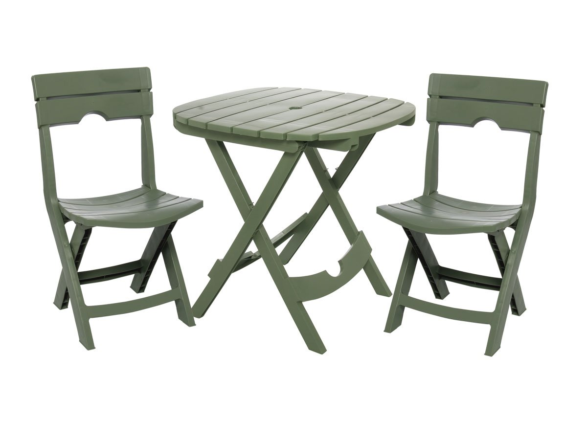 Table and chair set outdoor patio furniture folding seat for Deck table and chair sets