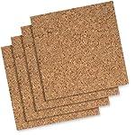 Quartet Cork Tiles, 12-Inch x 12-Inch, Modular, Self-Healing, Self-Stick Mount, 4 Pack (102)