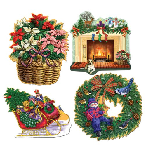 "Christmas Holiday 16"" Cutout Set"