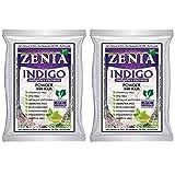 Zenia Indigo Powder (Indigofera Tinctoria) Hair/Beard Dye Color 100 grams (Pack Of 2)