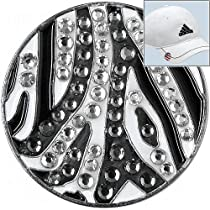 Bella Crystal Collection Zebra Golf Ball Marker Hat Clip