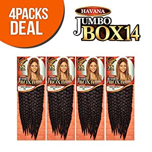 Amazon.com : Vanessa Synthetic Hair Crochet Braids Havana 3S Jumbo Box ...