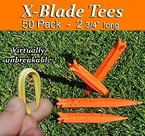 "X-blade Golf Tees- 2 3/4"" 50-pack (Orange) Get the Competitve Edge !!"