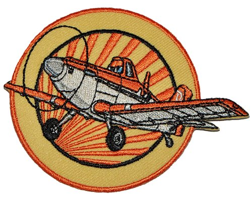 Disney Planes Sprühflugzeug Dusty 9 cm * 7,1 cm Bügelbild - Aufnäher Applikation Flugzeug Piper Pawnee