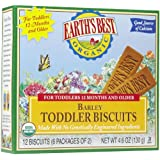 Earth S Best Organic Toddler Biscuits, Barley, 12 Bars (Pack Of 12)