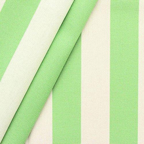 Markisen Outdoorstoff Streifen Breite 160cm Pistazien-Grün Weiss