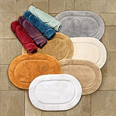 Superior 2-Piece Cotton Oval Bath Rug Set