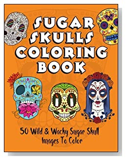 Sugar Skulls Coloring Book - Get your sugar skull fix with this coloring book! Fifty colorable designs in the shape of skulls for Dia de los Muertos or Day of the Dead.