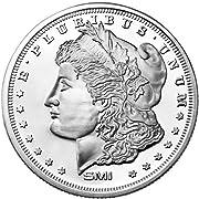 1 Troy Ounce .999 Fine Silver Morgan Round