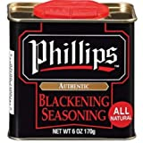 Phillips Authentic Blackening Seasoning 6 Oz