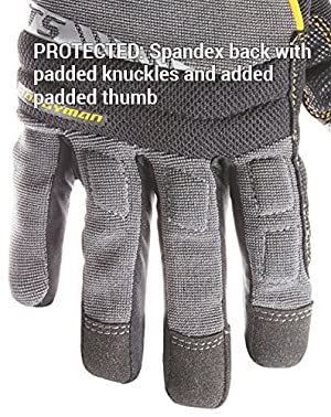 CLC Custom Leathercraft 125S Handyman Flex Grip Work Gloves, Shrink Resistant, Improved Dexterity, Tough, Stretchable, Excellent Grip (F?ur Pa?k) (Tamaño: F?ur Pa?k)