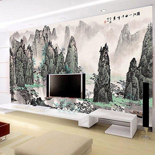 gs ly nahtlose 3d chinesischen berge und wasser die wohnzimmer staubdicht und antistatisch. Black Bedroom Furniture Sets. Home Design Ideas