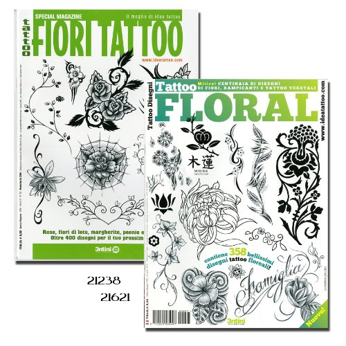 Tattoo Floral and Tattoo Fiori Tattoo Flowers Books