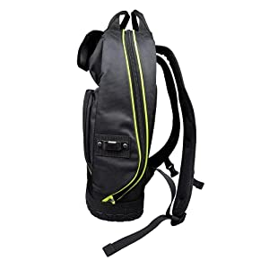 Backpack, Electrician Tool Bag, Tradesman Pro Organizer, Hi Viz, 39 Pockets & Molded Base Klein Tools 55597