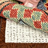 Super Grip Non Slip Rug Pad Size 2' x 3' - Safe for all...