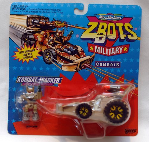 Vintage Micro Machines Z-Bots Military Combats Kombat Tracker - 1