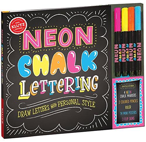 KLUTZ Neon Chalk Lettering Toy JungleDealsBlog.com