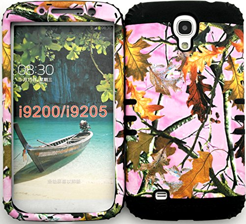 Wireless Fones Tm Samsung Galaxy Mega 6.3 Mossy Camouflage Pink Camo Snap On Black Silicone Hybrid Case Not Compatible With Samsung Galaxy Mega 5.8