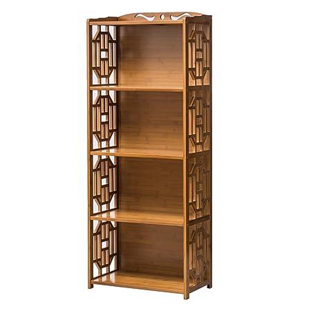 FEIFEI Scaffale da scaffale combinato Art Bamboo multifunzione a 4 strati multifunzione ( dimensioni : 42*29*130cm )