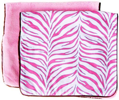 Caden Lane Boutique Collection Burp Set, Pink Zebra, 2-Count