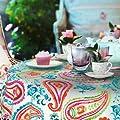 Wachstuch Breite 90 cm Länge wählbar - dcfix Persian Modern Bunt 3854593 - ECKIG Main abwaschbare Tischdecke Wachstücher Gartentischdecke von DHT-Wachstuch auf Gartenmöbel von Du und Dein Garten